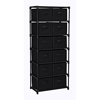 Superieur Homebi 12 Drawers Storage Shelf Chest Unit Storage Cabinet Closet Organizer  Rack With 6 Durable Metal
