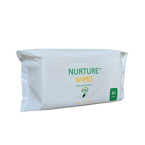 Nurture Baby Ultra Soft Premium Quality Baby Wet Wipes by BioBag, White, 960 Count, Chemical Free, Fragrance Free, Eco…