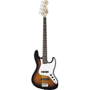 Squier by Fender Affinity Jazz Beginner Electric Bass Guitar - Rosewood Fretboard, Brown Sunburst