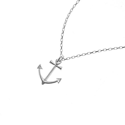 Diane Lo'ren 18kt White Gold Plated Inspirational Card Pendant Necklace Charms (Anchor to the (Men's Anchor Necklace)