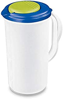 product image for Sterilite 2 Quart, 64oz Clear Plastic Flip Top Drink Pitcher with Lid (18 Pack)