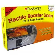 PanSaver Electric Roaster Liners Pack of 2 (Cooking A Turkey In My Nesco Roaster)
