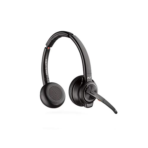 Plantronics SAVI 8200 Series W8220 Wireless DECT Headset System, Built for UC Applications & Soft Phones from Avaya, Cisco, Skype