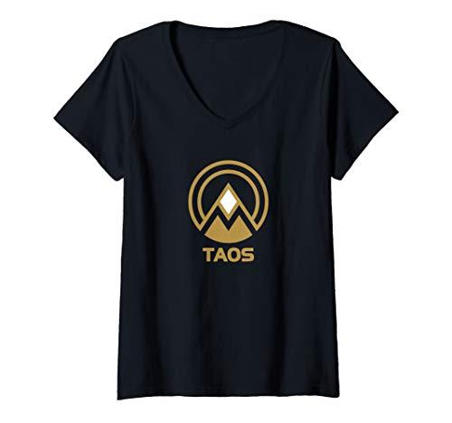Womens Retro Taos  V-Neck T-Shirt