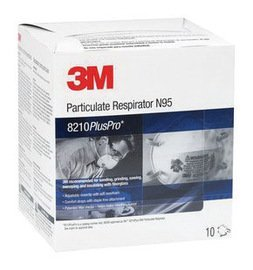 3M Standard N95 8210Plus Pro Disposable Particulate Respirator With Braided Headband And Adjustable Nose Clip - Meets NIOSH And OSHA Standards (10 Box)