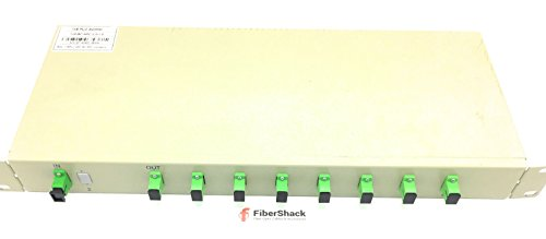 Single Mode Fiber Optic Splitter - 1 x 8 Rack Mount PLC - Commercial QUALITY