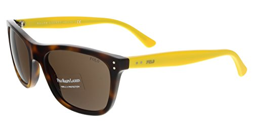 Polo Ralph Lauren 0PH4071 54057355 Rectangular Sunglasses,Havana JC Vintage Effect,55 - Sunglasses Havana Ralph Lauren