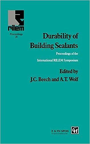 Books to downloads Durability of Building Sealants (RILEM Proceedings) 0419210709 (Swedish Edition) PDF