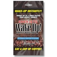 Enerjets Wake Up Energy Booster Drops, Classic Coffee Flavor - 12 Caffeinated Drops/Pack, 12 ()