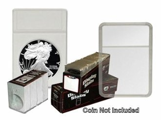 BCW ASE Combo Display Slab with Foam Inserts White 25 Pk