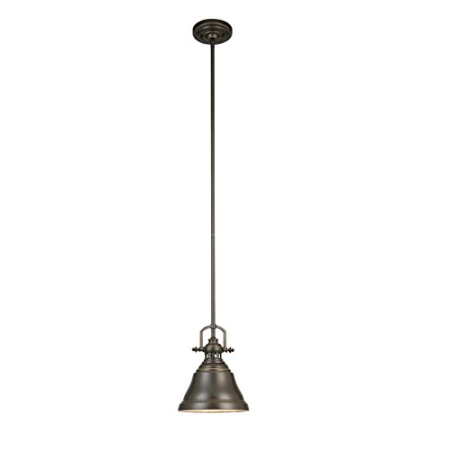 - Allen + Roth 8-in W Bronze Mini Pendant Light with Metal Shade
