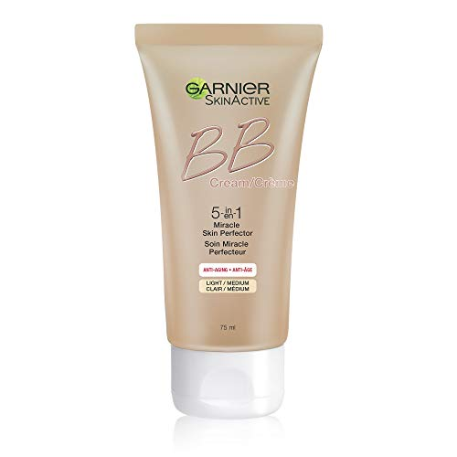 Garnier SkinActive BB Cream Anti-Aging Face Moisturizer, Light/Medium, 2.5 Ounce (Best Drugstore Tinted Moisturizer For Oily Skin)