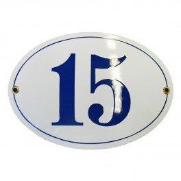 Num/éro de rue oval 10x15 cm plaque emaill/ée personnalis/ée panneau de porte