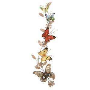 Deco 79 Metal Butterfly Decor, 39-Inch by 10-Inch Home wall art decor