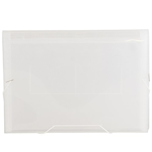 "JAM Paper Accordion Folders - 13-Pocket Expanding File - Letter - 9"" x 13"" - Clear - Sold Individually"