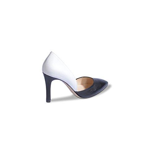 MELLUSO - Zapatos de vestir de Piel para mujer Nero (Nero/Bianco)