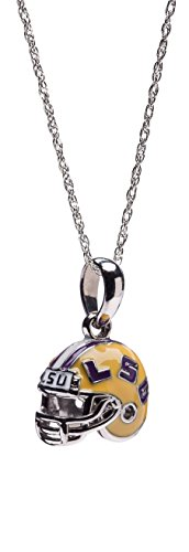 - Louisiana State University Necklace | LSU Tigers - Tigers Football Helmet Necklace | Officially Licensed Louisiana State University Jewelry | LSU Football | LSU Charms | Stainless Steel