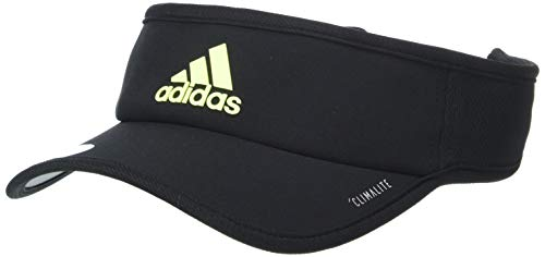 adidas Men's Superlite Performance Visor, Black/Hi Res Yellow, One Size