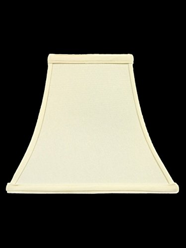 Upgradelights Square Bell 8 Inch Clip on Candle Stick Replacement Lamp Shade in Eggshell Color (4x8x7)