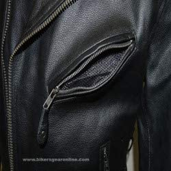 Milwaukee Riders Mens Motorcycle Classic Police Style Side Lace Vented Leather Jacket Full Sleeve Liner 40