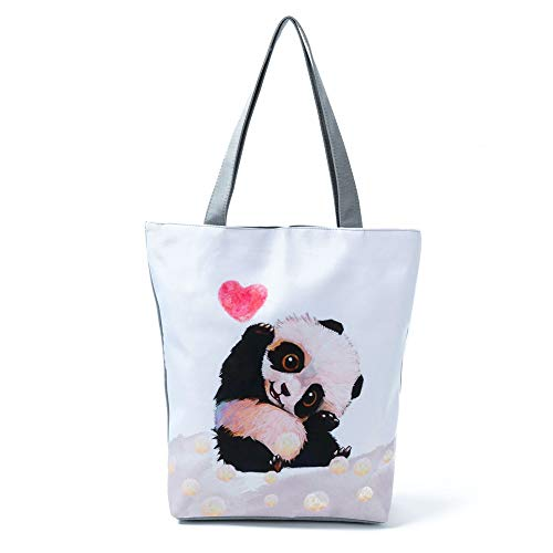 Borsa 11 38cm Panda Spiaggia Borsetta Donne Donna Viaggio di Tracolla a Shopping Le 3 Crossbody Borsa Escursioni size Quotidiano Borsetta Mano 27 Uso a Turistica Carino Attrazione per TREESTAR Campeggio wpPxnq