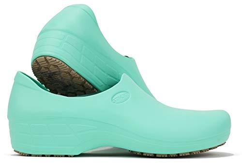 SSW-VDHOSP Waterproof Non-Slip Shoes (8, Light Green)