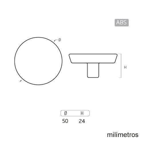 Tirador Pomo Mueble Infantil Resina ABS serigrafia MU/ÑECAS Kokeshi para POMOLINE 6 Un Di/ámetro 50MM