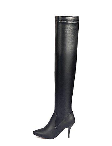 A Elástico Stiletto Casual Uk8 Uk4 Xzz Zapatos Blue Cn36 5 us6 Eu36 negro Tacón Azul 5 Semicuero Botas La Eu42 Mujer us10 Blue Satén Puntiagudos Vestido De Cn43 Moda qP0PpIOw