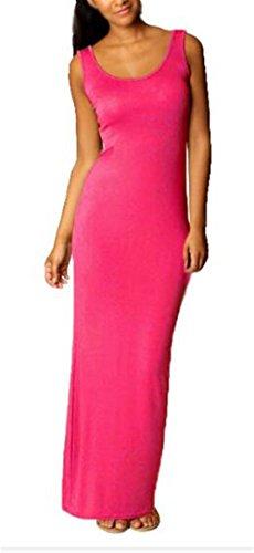 Colore Maniche Puro Semplice Estate Canotta Spiaggia Vestito Slim Donna Popolare Moda Maxi Da Fit Aivosen Senza Abito Rosy Dress aXqTE