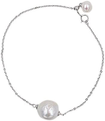 B6817Z天然宝石 pearls 真珠 (パール) Simple ブレスレット 誕生石 2月4月6月 シルバー925 人気 オリジナル手作り プレゼントを贈る