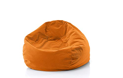 Gold Medal Bean Bags 30012859108 Gold Medal Microsuede Corduroy Bean Bag, Large, Orange