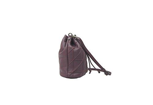 PLINIO VISONA' Tea, Cartable pour Femme violet aubergine 12x24x23 cm (W x H x L)