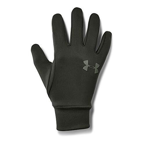 Under Armour Men's Armour Liner 2.0 Gloves, Artillery Green (357)/Moss Green, - Gloves Lightweight Silk