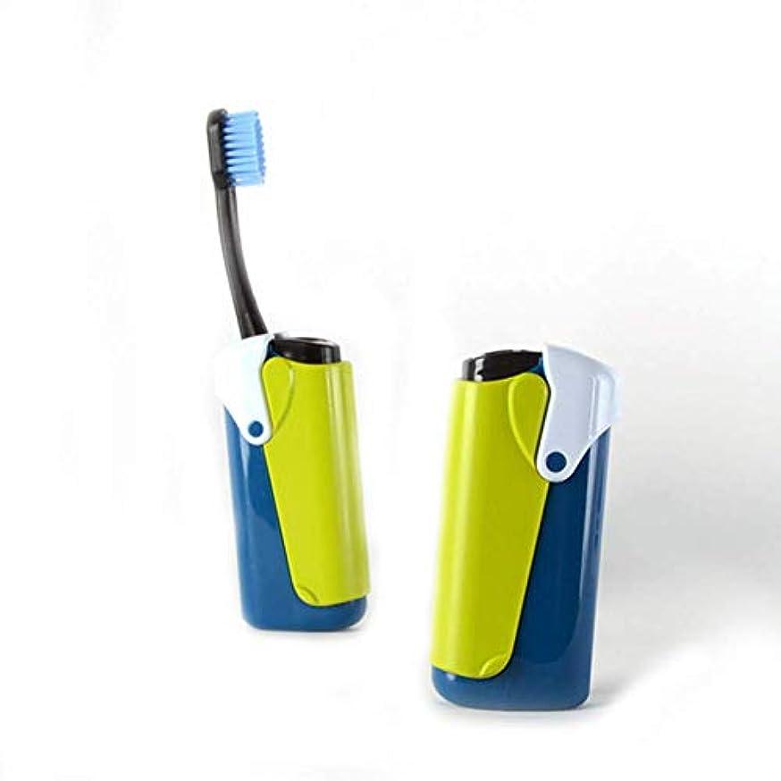 マイクロフォン鮫シンポジウム折りたたみ歯ブラシ旅行キャンプハイキングポータブルソフト歯ブラシオーラルケア歯ブラシクリーニングホワイトニング、イエロー