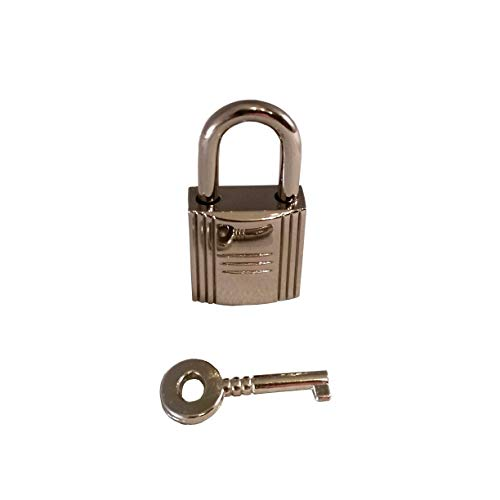 Silver Padlock & Key Handbag Purse Bag Lock Designer Leather Craft Jewelry Hardware Accessory
