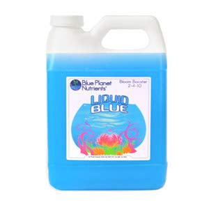 Blue Planet Nutrients Liquid Blue Bloom Booster Quart (32 oz) | Fatten & Harden Buds & Flowers | Hydroponic Aeroponic Soil Coco Coir | For All Plants & ()