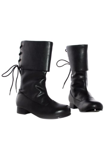 Deluxe Black Sparrow Kids Pirate Boots (Girls Pirate Boots)