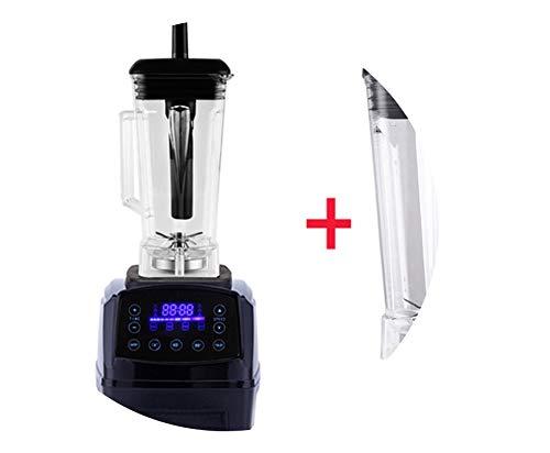 (Automatic Digital Smart Timer Program 2200W Heavy Duty Power Blender Mixer Juicer Food Processor Ice Smoothie Bar Fruit,Black Extra 2L Jug,Us Plug)