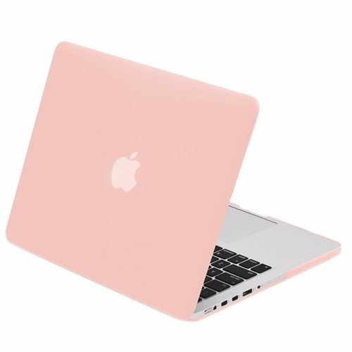 "TOP CASE - Retina 13-Inch Rubberized Hard Case Cover for MacBook Pro 13"" (13"" Diagonally) with Retina Display (Old Gen. 2012-2015) Model: A1425 and A1502 - Rose Quartz"