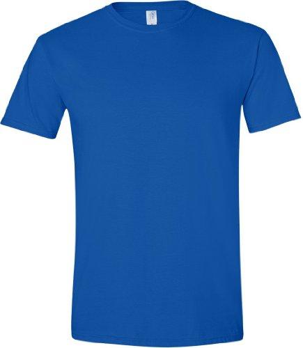 Gildan - Suave básica camiseta de manga corta para hombre - 100% algodón gordo Azul royal