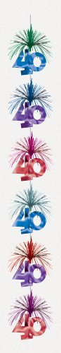 40 Column (Amscan International The Party Continues Cascade Column Decoration 40th)