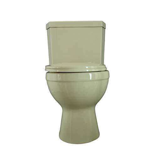 Renovator's Supply Biscuit China Round Bowl Dual Flush Bathroom Corner ()