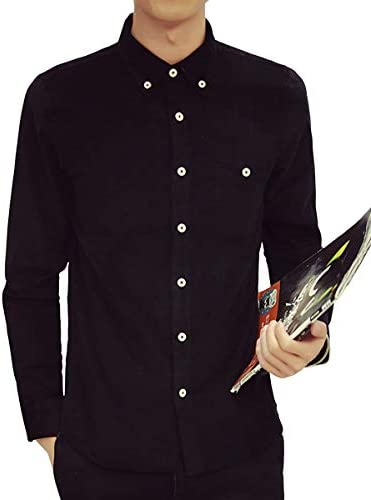 [Limore(リモア)] ボタンダウン シャツ メンズ 長袖 カジュアル カラー ビジネス 細身 オシャレ スリム ワイシャツ
