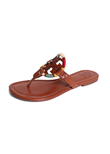 7291eec3b5d4b7 Galleon - Tory Burch Women s Vachetta Leather Flat Thong Sandals - Miller  (6