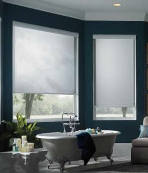 Made-to-Order Standard Roller Shades, Custom Light Filtering Roller Blinds, 48W x 48H, Chatham Teal