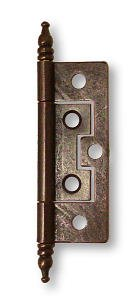 Vintage Cabinet Hinges - Non Mortise Antique Copper Hinge with Finals 2-1/2