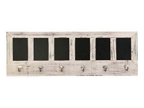Avignon Finish - AVIGNON HOME Chalkboard Labels Rustic Brown Torched Wood Finish Wall Mounted Coat Hooks Hanger Coat Rack 33