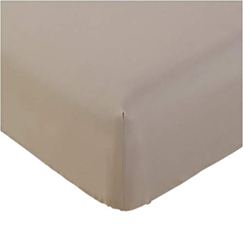 Mellanni Fitted Sheet King Tan - Brushed Microfiber 1800 Bedding - Wrinkle, Fade, Stain Resistant - Hypoallergenic - 1 Fitted Sheet Only (King, Tan)