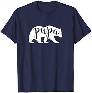Cool Gift Papa Bear  Papa Bear  Papa Daddy Tee  Women Long Sleeve Funny Shirt / Navy / S - 5XL