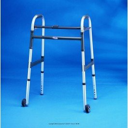 (I-ClassTM Dual-Release Paddle Folding Walker-Style Adult Fits Users 5' 3